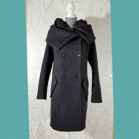 Zara Jackets & Blazers - Zara Purple Dramatic Cowl Neck Coat